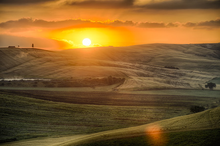 soil: Crete Senesi Crete Senesi are literally Siennese clays and the distinctive gray coloration of the soil gives the landscape an appearance often described as lunar