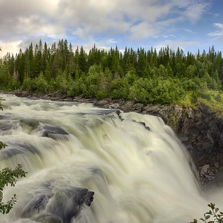 largest: Tännforsen waterfall is the largest waterfall in Sweden