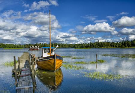 A beautiful summer scene in Sweden Stock Photo