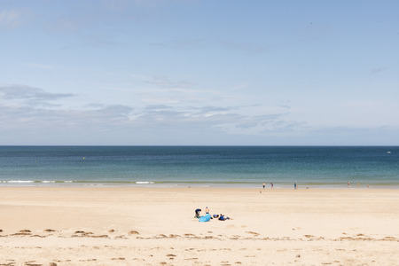 A beach in Bretagne in a summer sunny day Stock Photo