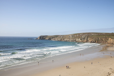 bretagne: A beach in Bretagne in a summer sunny day Stock Photo