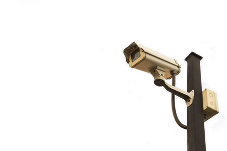 Surveillance camera or closed circuit camera isolated on white background