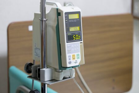 Infusion pump drip for patients in the hospital.
