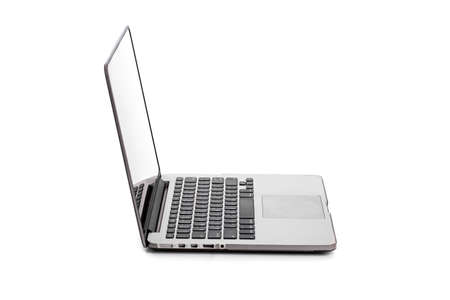 Computer Laptop with blank screen isolated on white background