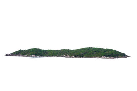 Tropical Natural island,hill,mountain isolated on white background Archivio Fotografico
