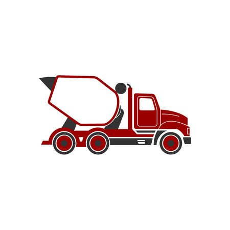 technics: Building under construction cement mixer machine machine technics vector illustration. Building cement mixer machine truck vector. Under construction vector concept. Mixer vector isolated.Cement mixer Illustration