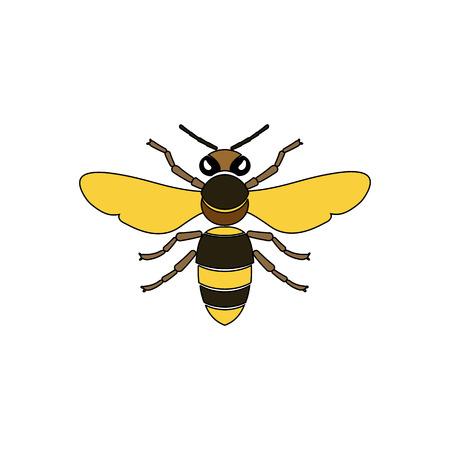 food production: Bee cartoon style illustrations. Apiary symbols. Bee, honey, bee flowers icons. Honey natural healthy food production. Bee, flowers, beehive and wax. Honey bee icon. Bee