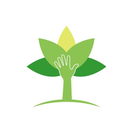 herbicide: Plant protection creative symbol concept. Modern agricultural technology logo design template. Shield shape with plant in negative space logo layout.