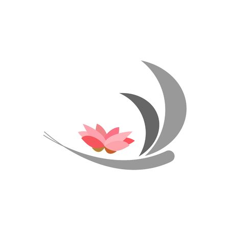 lotos: Abstract dragonfly logo with lotos flower - dragonfly vector. The idea for the company logo.