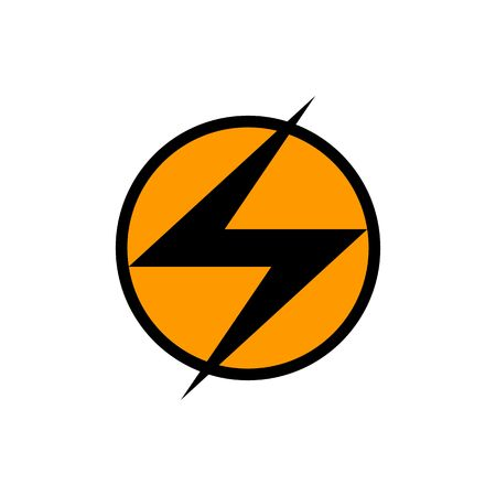 electroshock: Illustration of high voltage electric sign isolated on the white background.