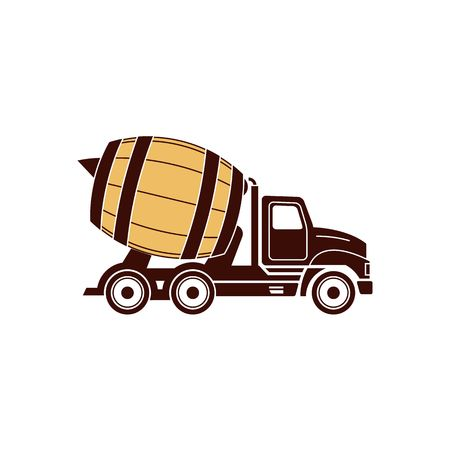transport truck: Brawery like truck icon vector illustration isolated on white background