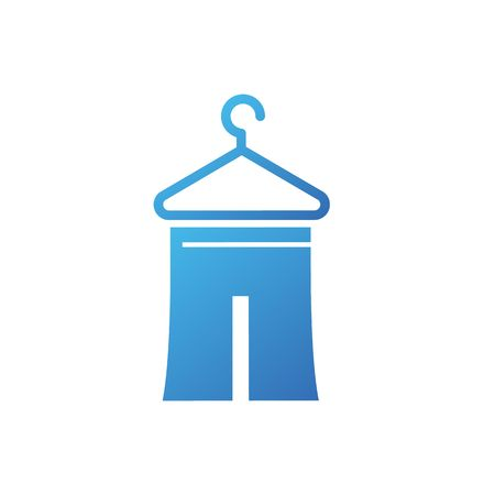 laundry hanger: Dry cleaning laundry with hanger vector illustration isolated on white background.