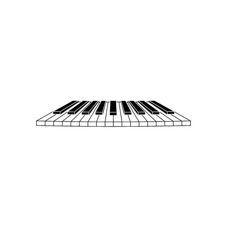 clavier: Piano clavier keys vector illustration isolated on white background.