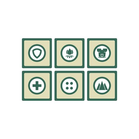 laser hazard sign: Safety icon set vector illustration isolated on white background.