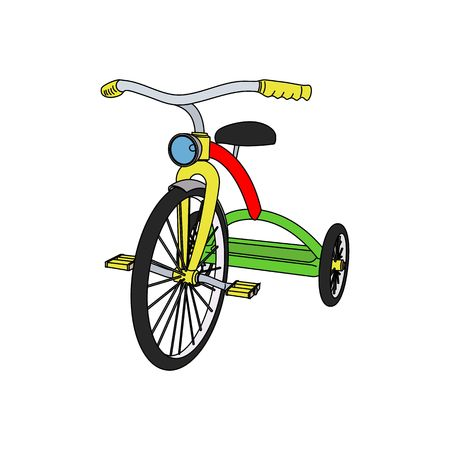 tricycle: Beautiful colored 3D tricycle vector illustration isolated on white background.