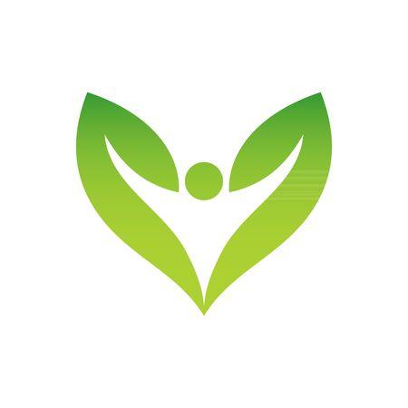 vegeterian: Green vegeterian symbol vector illustration isolated on white background.