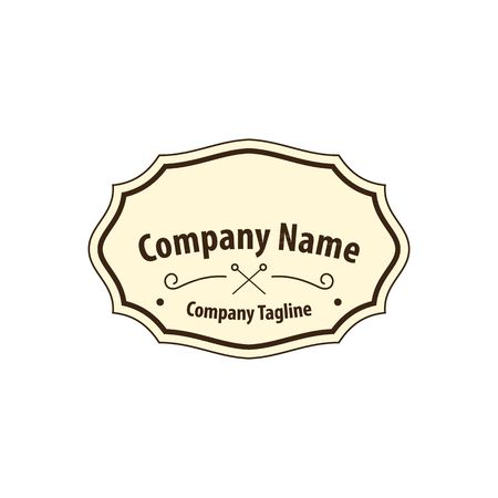 fashion label: Old fashion label or crest vector illustration isolated on white background.