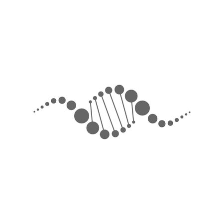 genetic modification: Abstract dna strands icon vector illustration isolated on white background