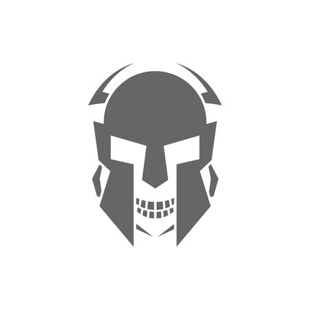 front of the eye: Robot skull or mask vector illustration isolated on white background.