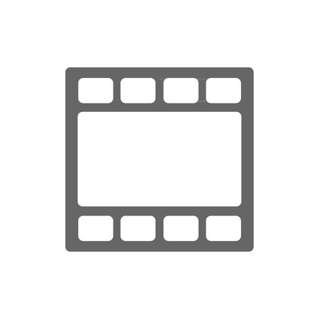 directors cut: Movie tape icon vector illustration isolated on white background.