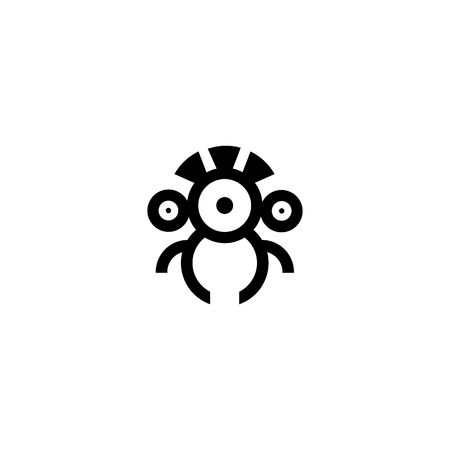 Drone or robot icon icolated on a white background. 矢量图像