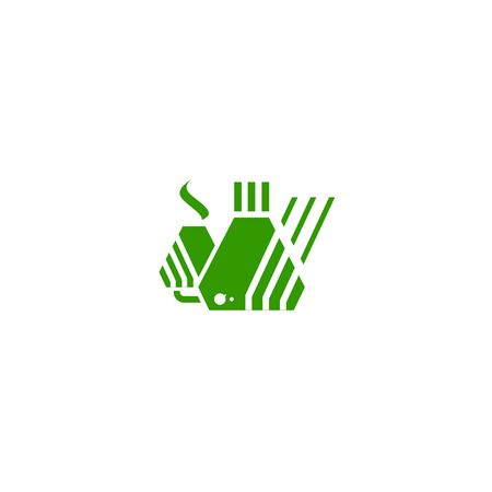 Factory logo or icon isolated on a white backgorund. 矢量图像