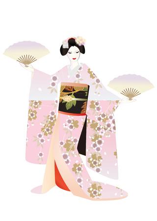 kanzashi: Maiko hands with handicrafts