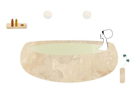 take a bath: Women take a bath