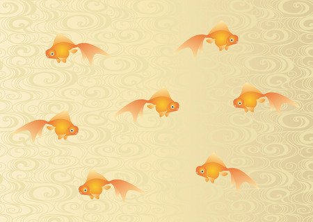 water flow: Goldfish and water flow pattern