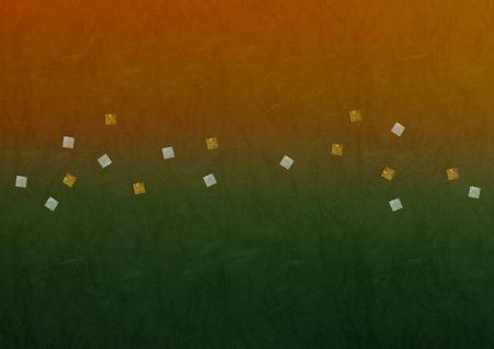 Background gradient, gold leaf and silver leaf