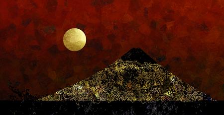 fantastic: Full Moon and a fantastic mountain