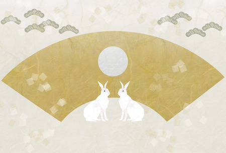 white rabbit: Paper texture, fan-shaped, and the White Rabbit