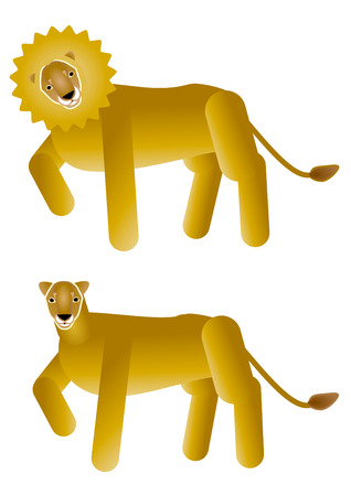 the pair: Lion pair Stock Photo