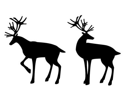 Reindeer silhouette