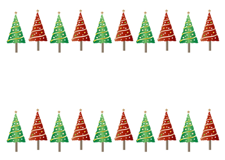 christmas backgrounds: Pattern, backgrounds, red and green Christmas tree Stock Photo