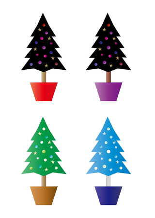 variations: Christmas trees variations