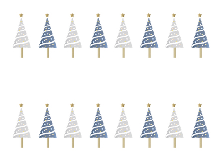 christmas backgrounds: Pattern, backgrounds, blue and grey Christmas tree Stock Photo