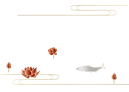 water lilies: Water lilies and fish