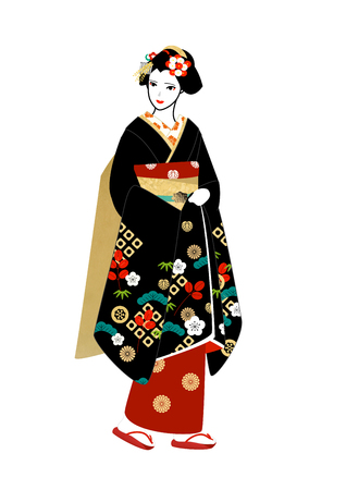maiko: Maiko dress for the new year Stock Photo