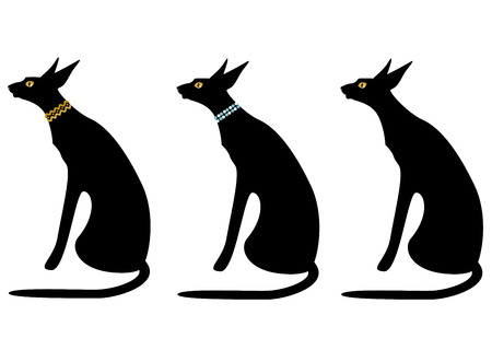 variations: Black cat variations Illustration