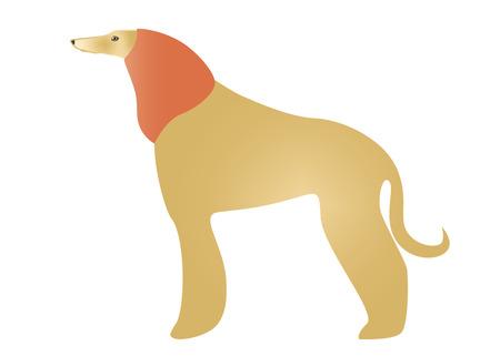 snood: Dog in snood Illustration