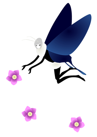 personification: Personification image of butterfly Stock Photo