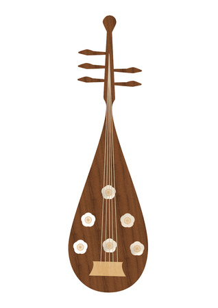 lute: Five-stringed japanese lute