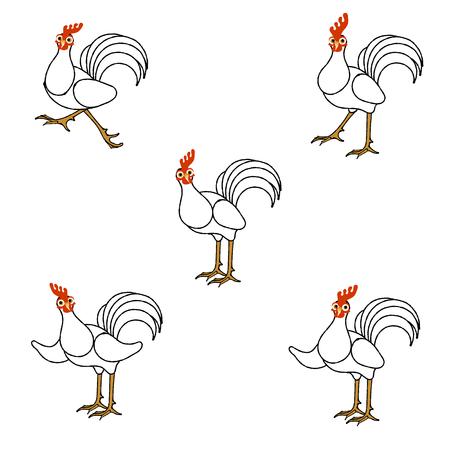 humorous: Humorous roosters