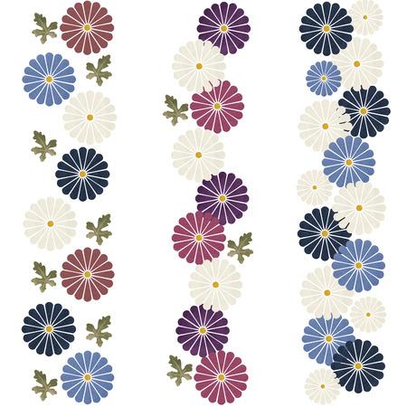 japanese chrysanthemum: Japanese chrysanthemum flower pattern on white background Stock Photo