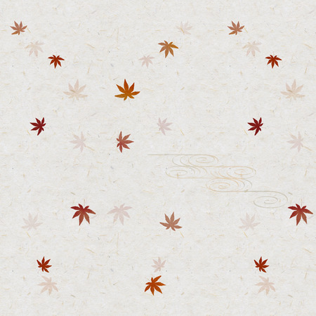 japanese maple: Autumn maple leaves on Japanese paper