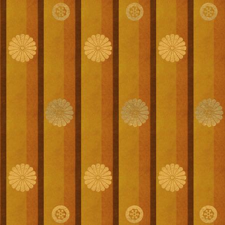 stripe: Chrysanthemum patterns on stripe background