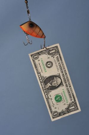 Fishing with dollars Stock Photo - 4160673