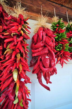 Red Cile Peppers Archivio Fotografico