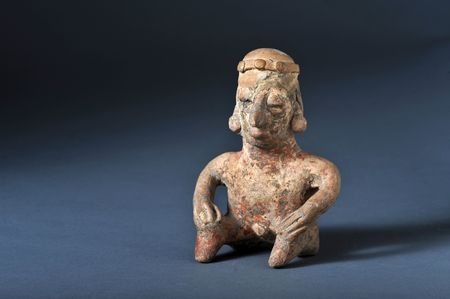 pre columbian: Pre-Columbian Colima seated man 100BC.